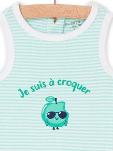 Body blanco y verde para bebé niño LEGABODPOM / 21SH14G6BDL000