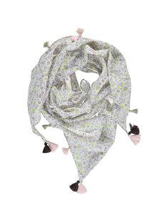 Girls' triangular scarf CYACEFOUL / 18SI01M1FOU099