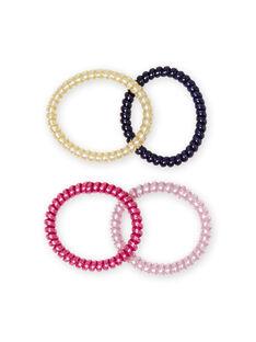Pack de 4 gomas para el pelo con purpurina a juego para niña MYAJOELA1 / 21WI01S4ELAH700