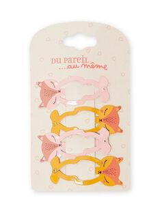 Pack de 4 horquillas de cervatillo a juego para niña MYASAUCLIC1 / 21WI01T1BRT303