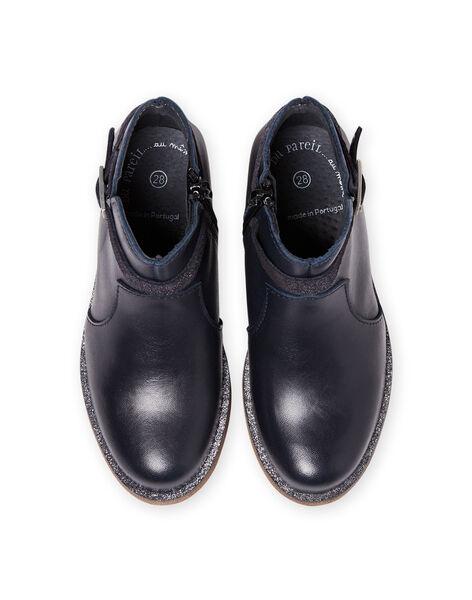 Boots de color azul marino de piel para niña MABOOTREP / 21XK3552D0D070