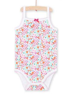 Body blanco con estampado, para bebé niña LEFIBODDES / 21SH13G2BDL000