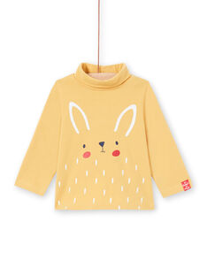 Jersey fino de manga larga de color crudo con estampado de tigre para bebé niño MUJOSOUP3 / 21WG10N3SPL001