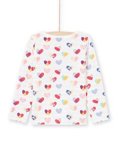 Camiseta reversible de color crudo y rojo para niña MAMIXTEE2 / 21W901J4TML001