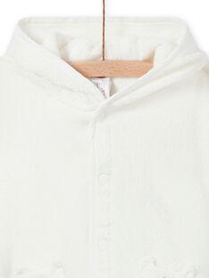 Capa de baño de color crudo con capucha con estampado de zorro para recién nacido unisex MOU1CAP / 21WF4241POI001