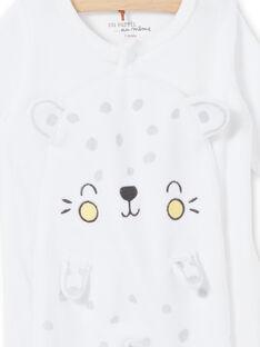 Pelele de leopardo blando, de terciopelo decoré, para recién nacido LOU1GRE5 / 21SF05H2GRE000