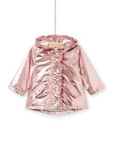 Parka de color rosa cobrizo para bebé niña LIFANPARK / 21SG09R1PAR030