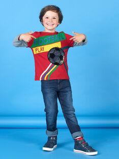 Camiseta roja y verde para niño LOHATEE / 21S902X1TML050