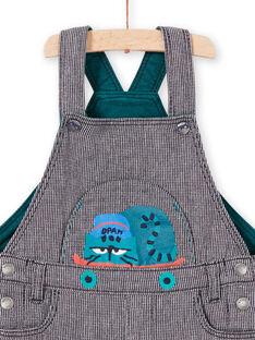 Peto de rayas azul con estampado de gato para bebé niño MUTUSAL1 / 21WG10K2SALC234
