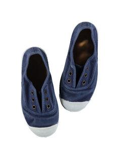 Tenis de lona lisos para niño FGTENBLUE / 19SK36B2D16070