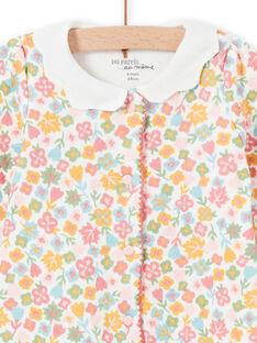 Pelele con estampado floral y cuello fantasía para bebé niña MEFIGRESAU / 21WH1394GRE001