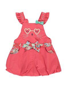 Baby girls' strappy dress CIBUROB4 / 18SG09K4ROBF515