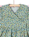 Vestido caqui de manga corta con estampado floral para niña MAKAROB2 / 21W901I1ROB612