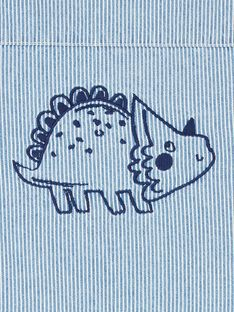 Chaqueta vaquera de rayas de color azul, para bebé niño LUGROVEST / 21SG10R1VESP272