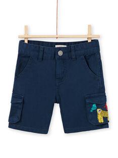 Bermudas de color azul marino para niño LOVIBER4 / 21S902U4BERC204