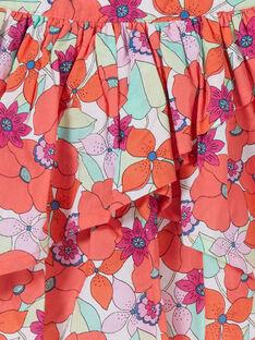 Falda verde y naranja con estampado de flores LAVIJUP1 / 21S901U2JUP000