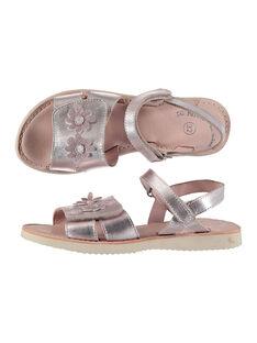 Sandalias de piel metalizada para niña FFSANDSAM / 19SK35C3D0E030