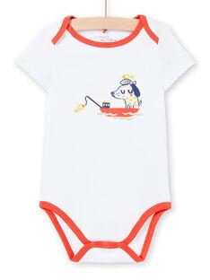 Body blanco, con estampado, para bebé niño LEGABODMAR / 21SH14G5BDL000