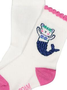 Calcetines con estampado de sirena para bebé niña FYINECHO / 19SI09B1SOQ000
