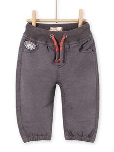 Pantalón de color gris oscuro para bebé niño LUPOEPAN1 / 21SG10Y2PANJ916