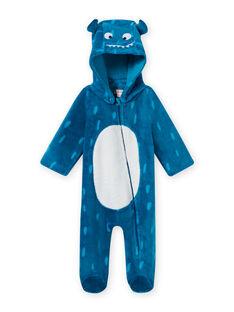 Sobrepijama azul con capucha y estampado de monstruo para bebé niño MEGASURPYJ / 21WH1491SPY715