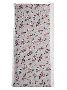 Snood de doble vuelta de color gris con estampado floral e interior de sherpa para niña JYAVISNOO / 20SI01D1SNO943