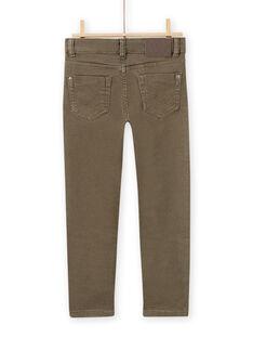 Pantalón liso de color caqui de twill para niño MOJOPAKNI1 / 21W90223PANG631