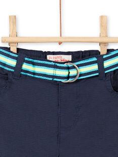 Bermudas de color azul marino, para bebé niño LUBONBER3 / 21SG10W2BER717