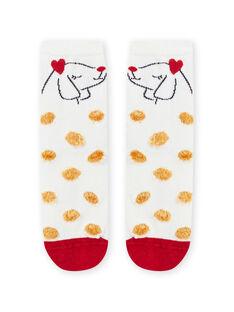 Calcetines de lunares con estampado de perro para niña MYAMIXCHOBO / 21WI01J2SOQ009