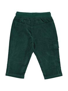 Baby boys' green velour trousers DUJOPAN7 / 18WG10J1PAN060