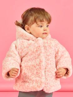 Anorak de color dorado y rosa reversible con capucha para bebé niña MIORDOUREV / 21WG0951D3EA006