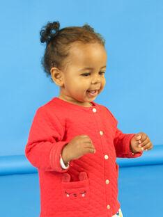 Cárdigan rojo para bebé niña LIHACAR / 21SG09X1CAR505