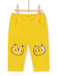 Pantalón de color amarillo para bebé niño LUNOPAN1 / 21SG10L1PAN106