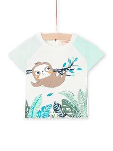 Camiseta de color crudo para bebé niño LUVERTI2 / 21SG10Q2TMC001