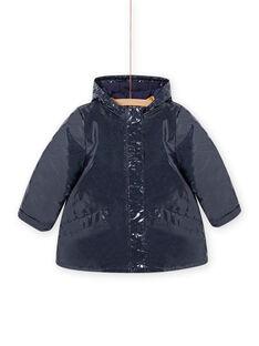 Impermeable 3 en 1 de color azul marino con brillo para niña MAMIXIMPER / 21W90152IMP070