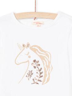 Camiseta de color crudo para niña MAJOYTEE3 / 21W90111TML001