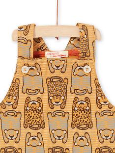 Peto corto de color mostaza para bebé niño LUTERSAC / 21SG10V1SACB106