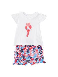 Conjunto de short y camiseta para bebé niña JICEAENS / 20SG09N3ENS000