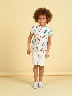 Bermudas de color gris jaspeado para niño LOPOEBER / 21S902Y1BER943