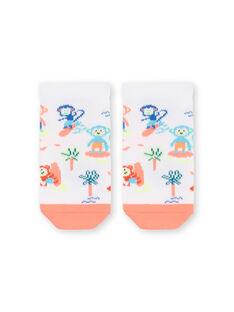 Calcetines blancos y naranjas para bebé niño LYUBONCHO2 / 21SI10W2SOQ000