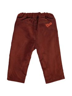 Baby boys' polar fleece lined velour trousers DUPINPAN2 / 18WG10P2PAN099