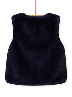 Chaleco reversible de pelo artificial de color azul noche para niña MAPLACAR1 / 21W901O2CARC202