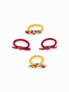 Pack de 4 gomas para el pelo a juego con lazos para niña MYAJOELA3 / 21WI01S6ELAB106
