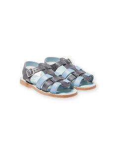 Sandalias de color gris y celeste para niño LGSANDADAM / 21KK3652D0E940