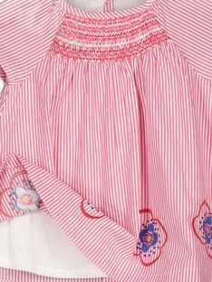 Vestido de rayas para bebé niña FICOROB1 / 19SG0981ROB030