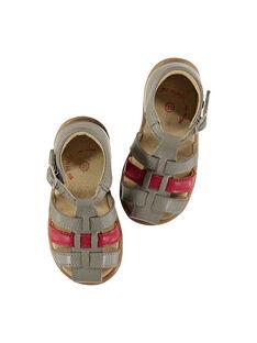 Sandalias de piel para bebé niño FBGSANDBI3 / 19SK38D2D0E940