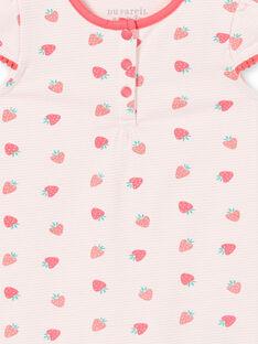 Pelele de color rosa claro, para bebé niña LEFIGREAOP / 21SH13C2GRE001