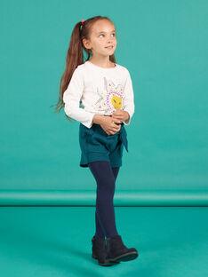 Camiseta de color crudo y amarillo para niña MATUTEE3 / 21W901K1TML001