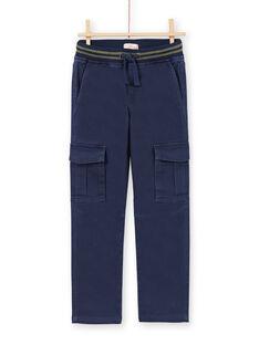 Pantalón azul oscuro para niño MOJOPAMAT1 / 21W90228PAN705
