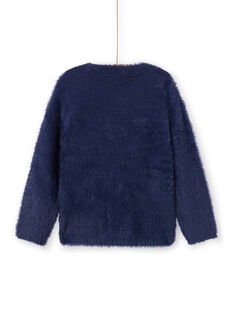 Jersey azul marino de pelo artificial para niña MATUPULL / 21W901K1PUL070